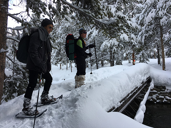 イエローストーン国立公園でスノーシュー
