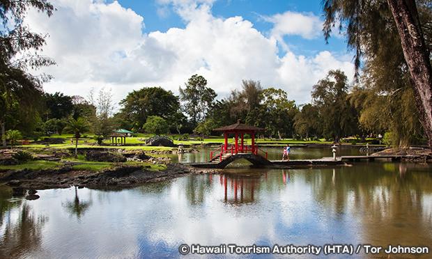リリウオカラニ庭園 Liliuokalani Gardens