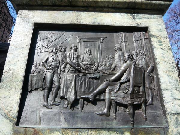 ベンジャミン・フランクリンの立像 Benjamin Franklin's Statue