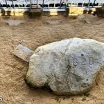 プリマス・ロック ピルグリムが最初に上陸した岩