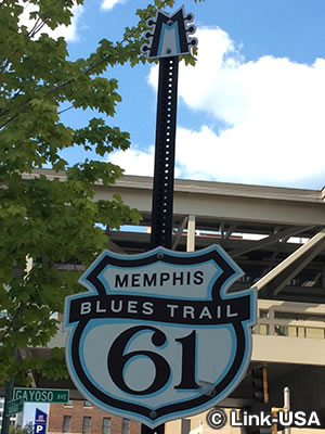 Memphis Blues Trail 61 のサイン