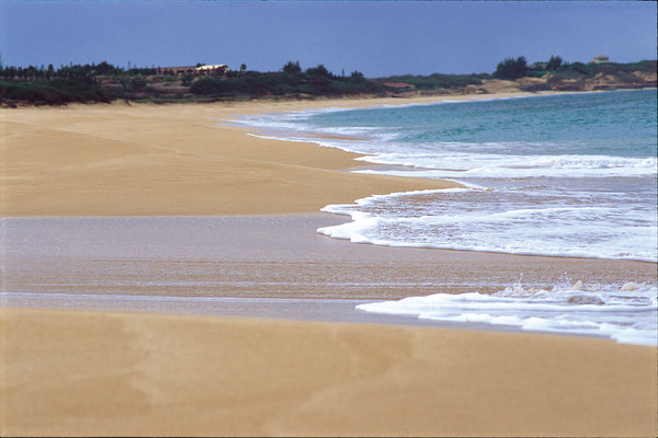 ハワイ1のロングビーチ パポハクビーチ