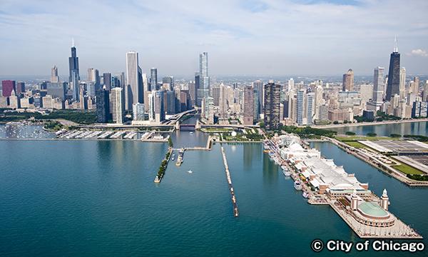 シカゴの高層ビル群 摩天楼発祥の地 シカゴ