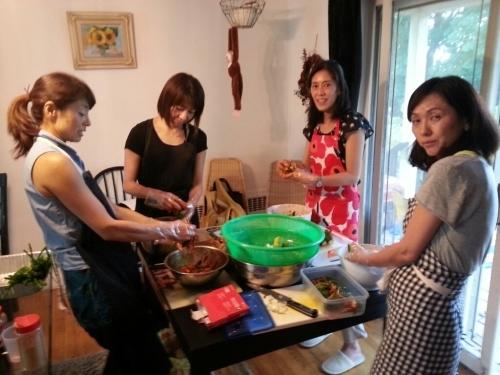 韓国お料理教室(オイキムチとカクテキ)